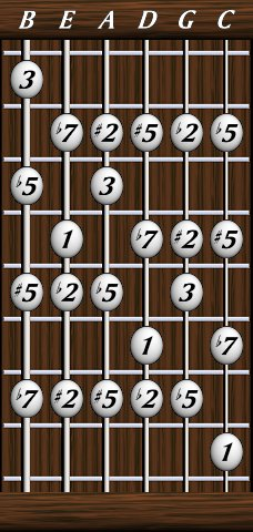 dave 39 s six string bass resource page scales the melodic minor scale double position. Black Bedroom Furniture Sets. Home Design Ideas